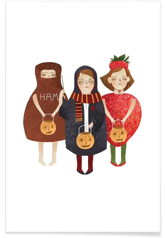 Groupes, Art pour enfants, Rêve, Halloween affiche