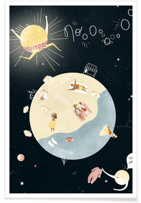 Art pour enfants, Rêve, Summertime affiche