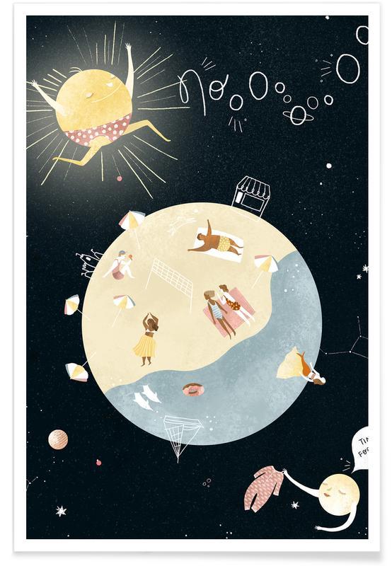 Kunst voor kinderen, Dromerig, Summertime poster