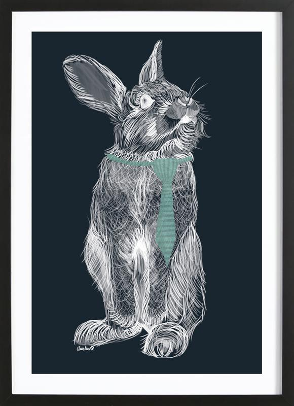 Fancy Rabbit Framed Print