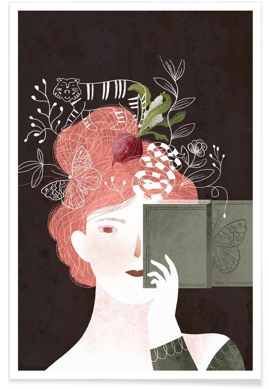 Portraits, Art pour enfants, Rêve, You Are What You Read affiche