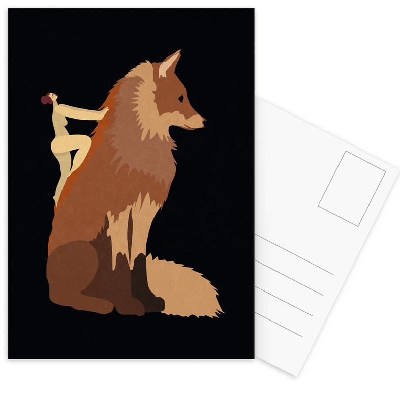 Renards, Fox cartes postales
