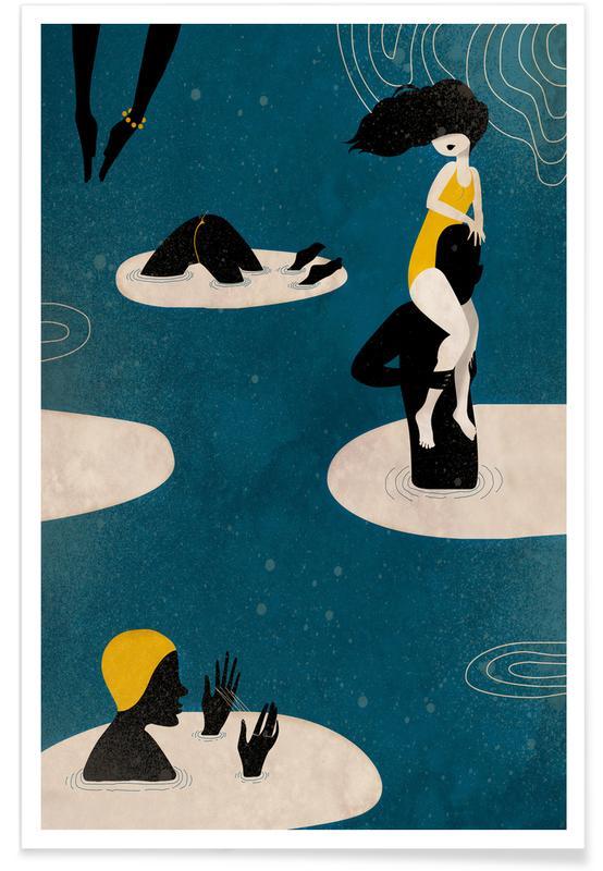 Swimming, Badetag Poster