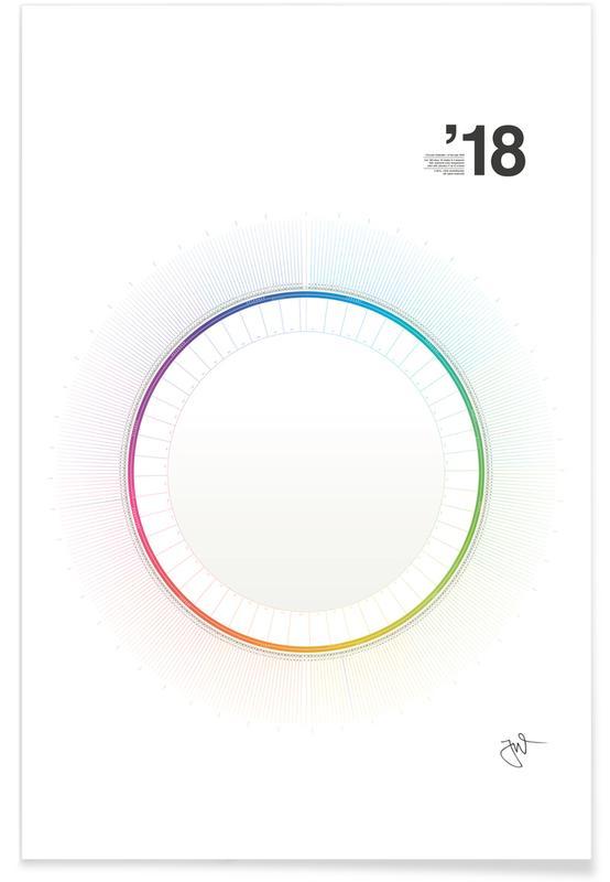 Circular Calendar 2018 Poster