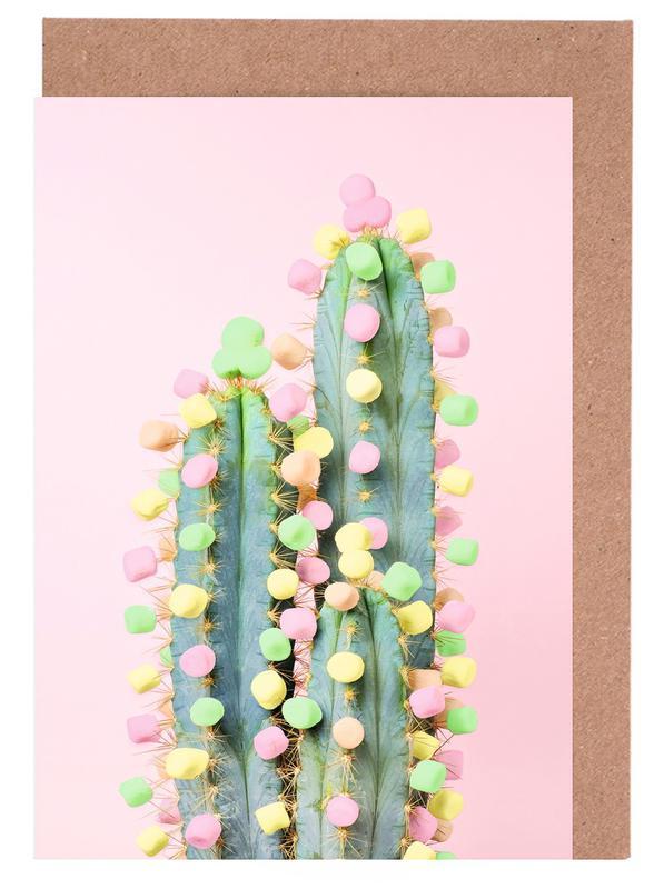 Marshmallow Cactus in Bloom Greeting Card Set