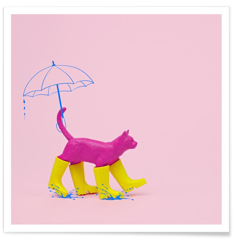 Chats, Art pour enfants, Puss in [Rain] Boots affiche