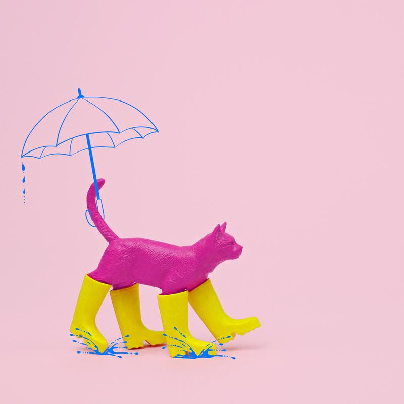 Puss in [Rain] Boots canvas doek