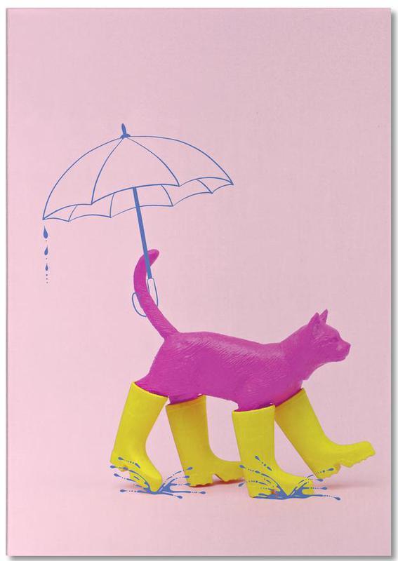 Katten, Kunst voor kinderen, Puss in [Rain] Boots notitieblok