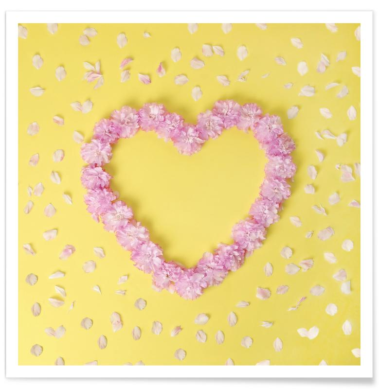 Cherry Blossom Heart Poster