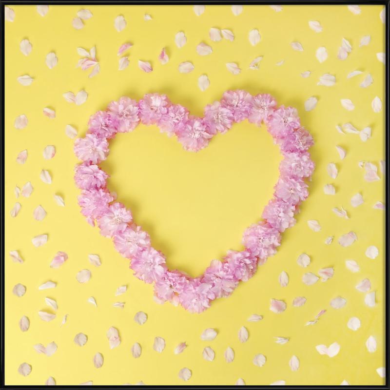 Cherry Blossom Heart Framed Poster