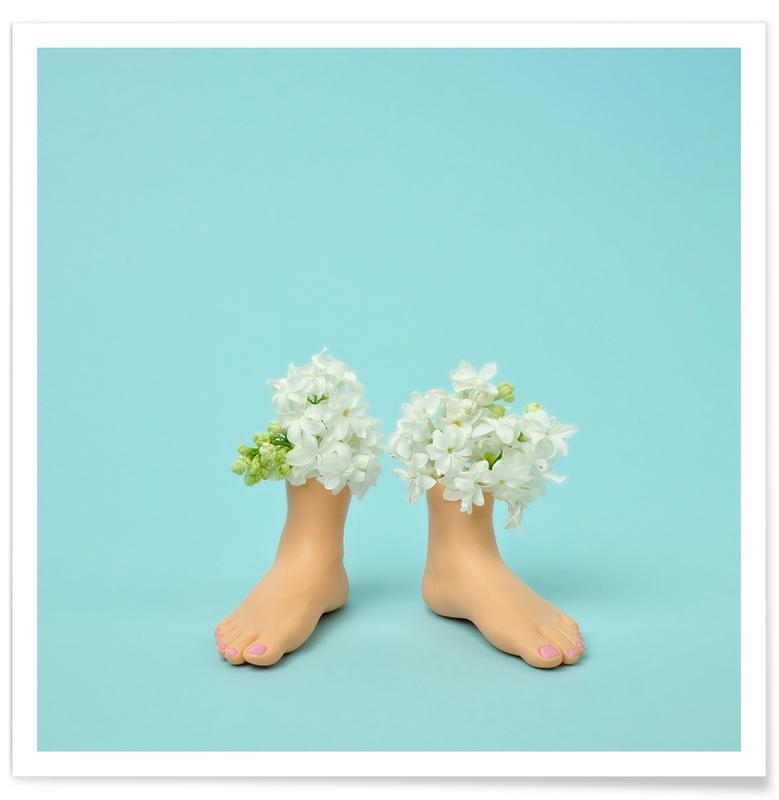 Geburtstage, Glückwünsche, Lustig, Feet Vase Lilacs -Poster