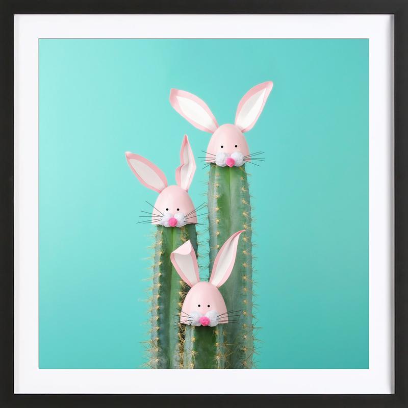 Bunny Cactus Framed Print
