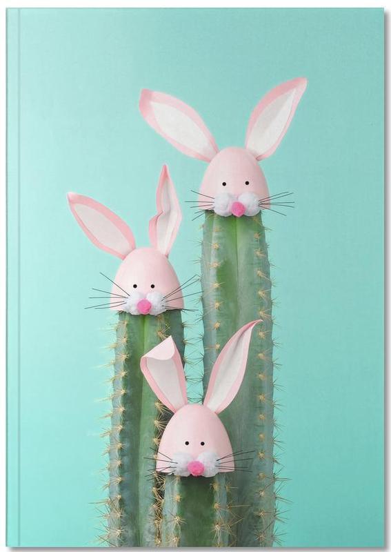 Pâques, Cactus, Lapins, Art pour enfants, Bunny Cactus Notebook