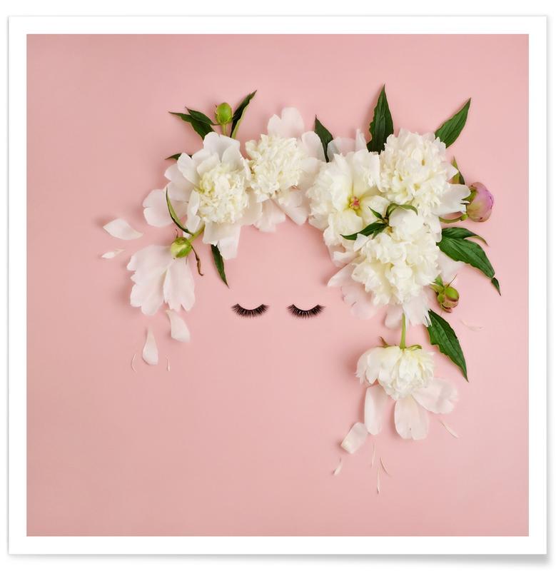 Glückwünsche, Kinderzimmer & Kunst für Kinder, Peony Face -Poster