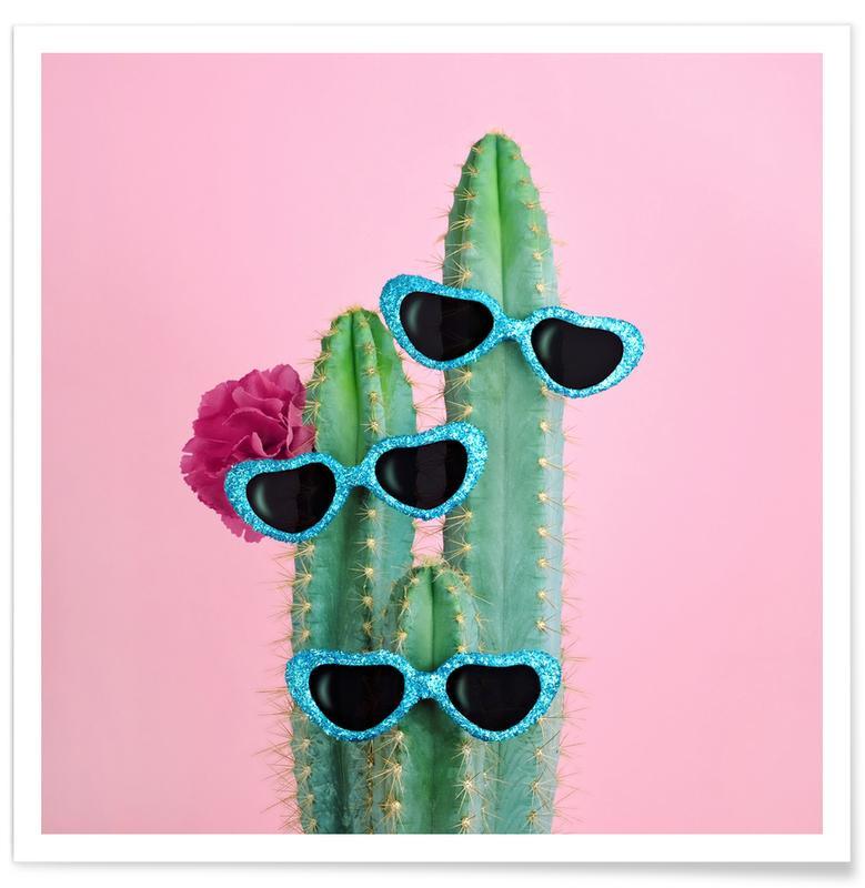 Geburtstage, Glückwünsche, Kaktus, Kinderzimmer & Kunst für Kinder, Cactus Sunglasses -Poster