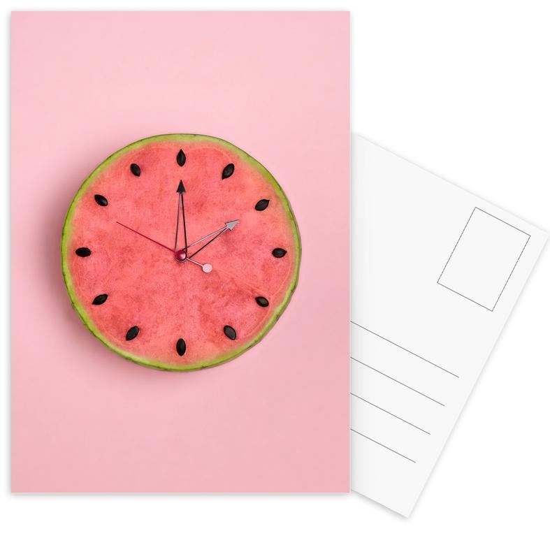 Watermeloenen, Verjaardagen, Watermelon Time ansichtkaartenset