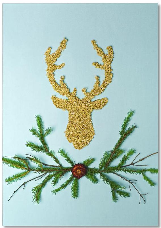 Herten, Kerst, Buckwheat notitieblok