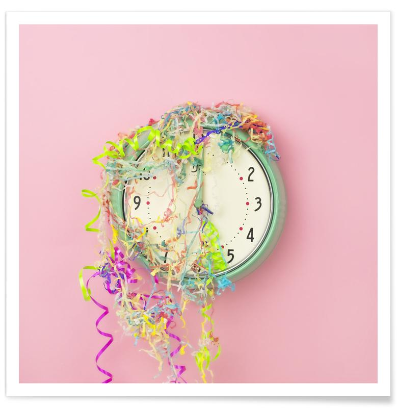 Clock Confetti -Poster