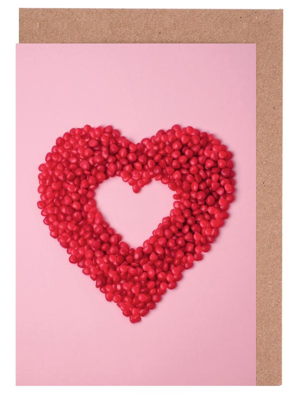 Red Hots Heart Greeting Card Set