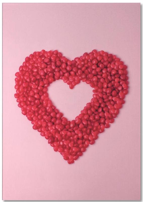 Valentijnsdag, Harten, Jubileums en liefde, Red Hots Heart notitieblok