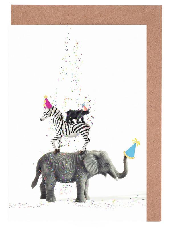 Party Animals -Grußkarten-Set