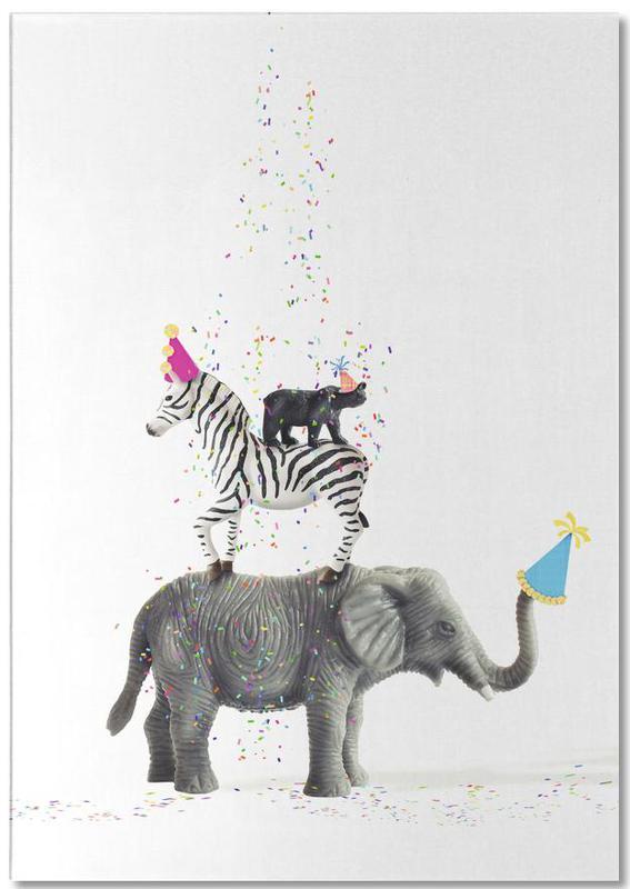 Olifanten, Zebra's, Verjaardagen, Party Animals notitieblok