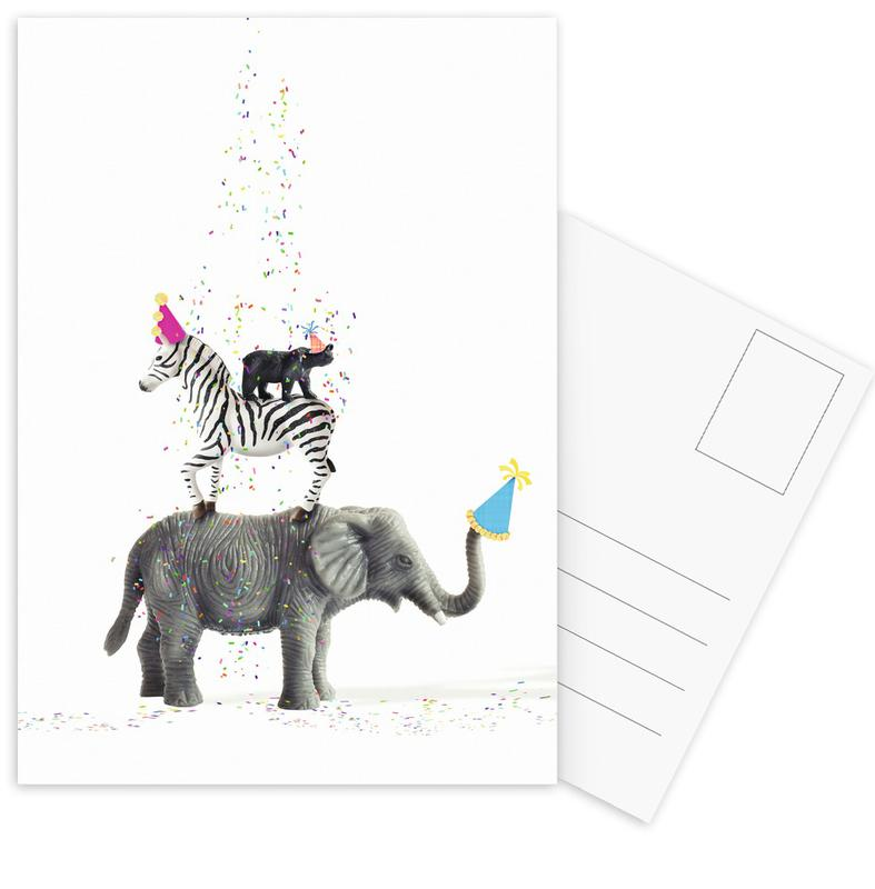 Party Animals -Postkartenset