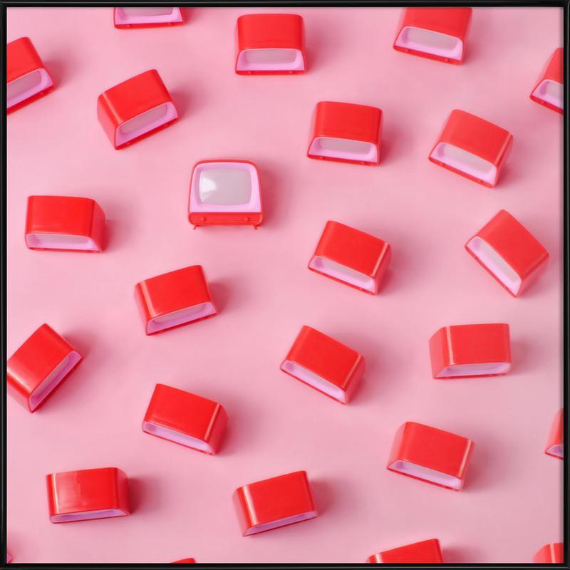 Netflicks and Chill -Bild mit Kunststoffrahmen