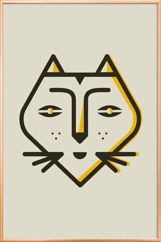 Animal 6 Poster in Aluminium Frame