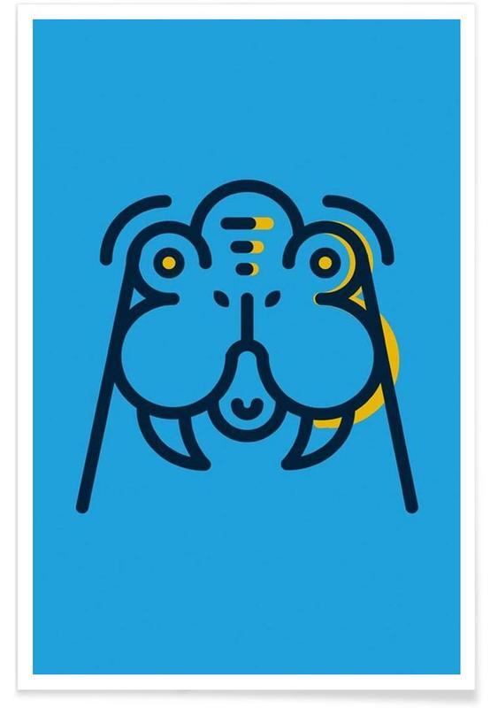 Art pour enfants, Animal 3 affiche