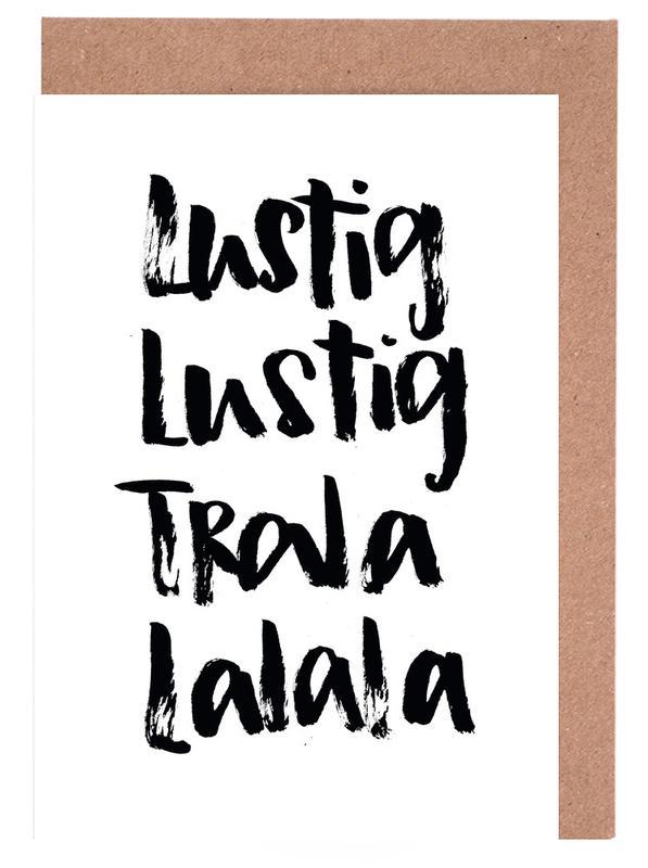 Tralalala -Grußkarten-Set