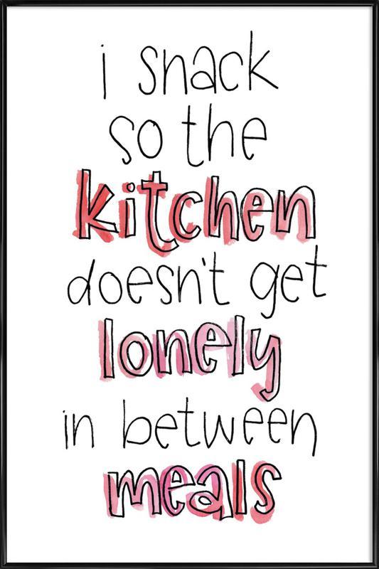 Lonely Kitchen -Bild mit Kunststoffrahmen