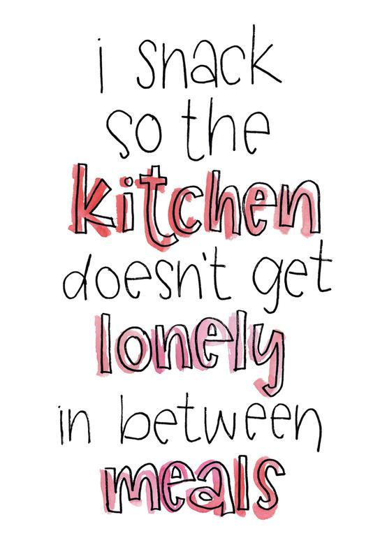 Lonely Kitchen -Acrylglasbild