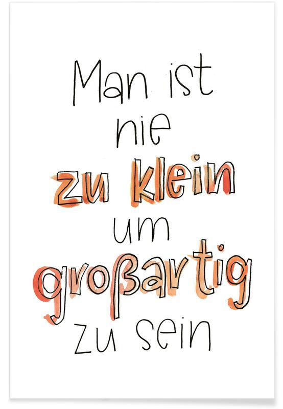 Humour, Citations et slogans, Motivation, Nie zu Klein affiche