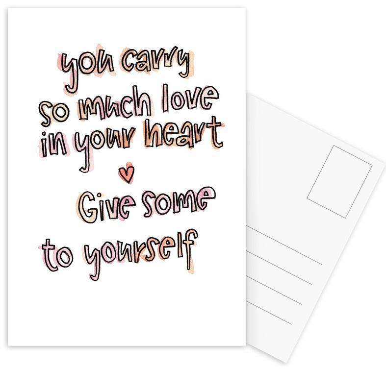 Quotes en slogans, Motivatie, So Much Love ansichtkaartenset