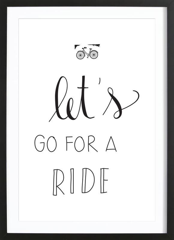 Ride -Bild mit Holzrahmen