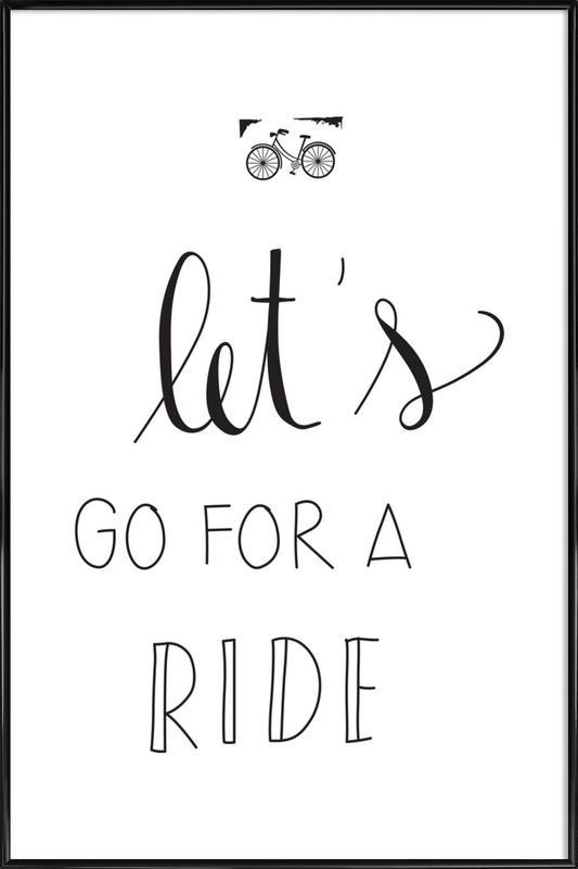 Ride -Bild mit Kunststoffrahmen