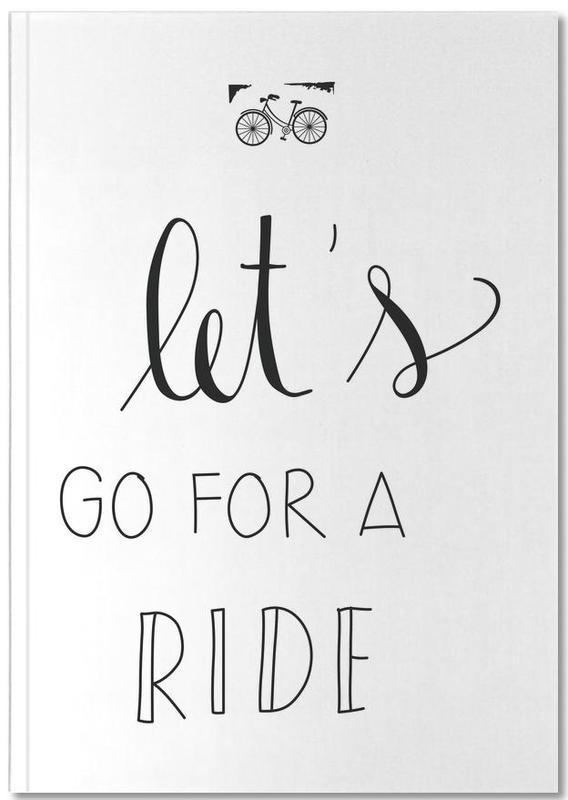 Fahrräder, Zitate & Slogans, Schwarz & Weiß, Ride Notebook