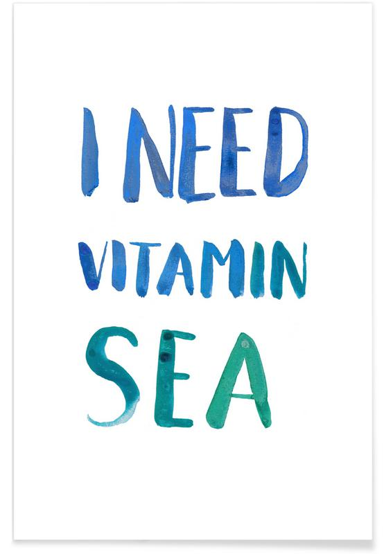 Funny, Quotes & Slogans, Vitamin Sea Poster