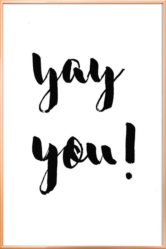 Yay You poster in aluminium lijst