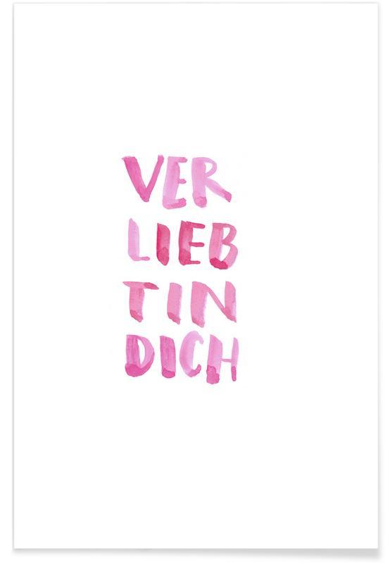 Citations d'amour, Citations et slogans, Saint-Valentin, Verliebt affiche