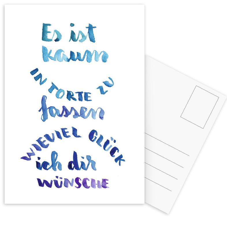 Kaum in Torte zu fassen -Postkartenset