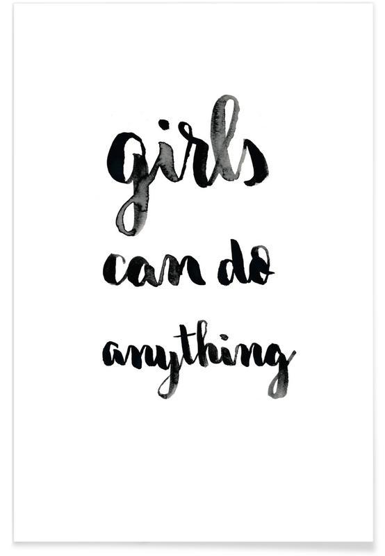Zitate & Slogans, Motivation, Glückwünsche, Girls -Poster