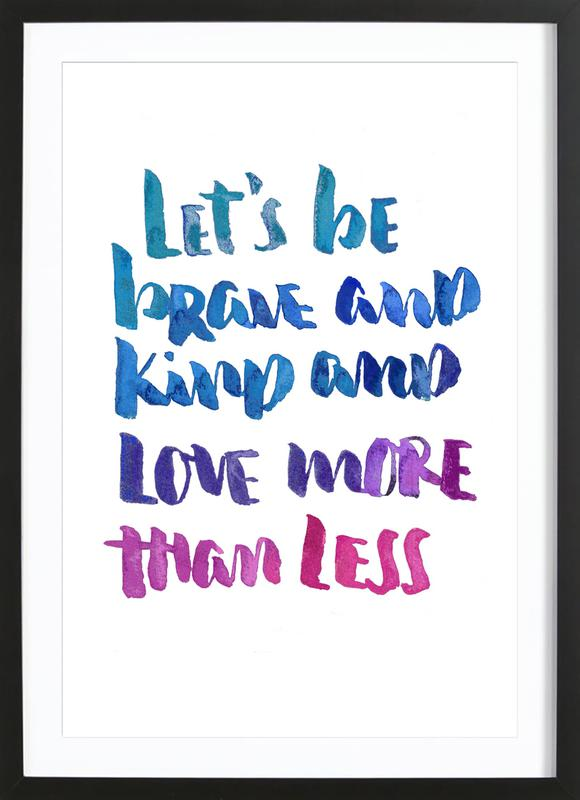 Love More ingelijste print