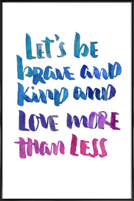 Love More -Bild mit Kunststoffrahmen