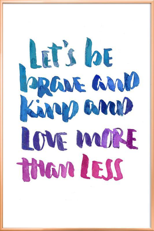 Love More -Poster im Alurahmen