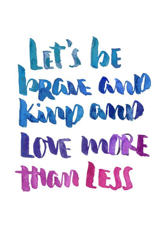Love More -Acrylglasbild