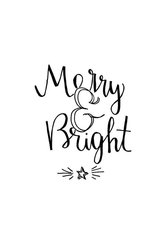 Merry & Bright -Acrylglasbild