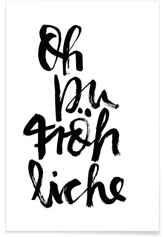 Kerst, Songteksten, Oh Du Fröhliche poster