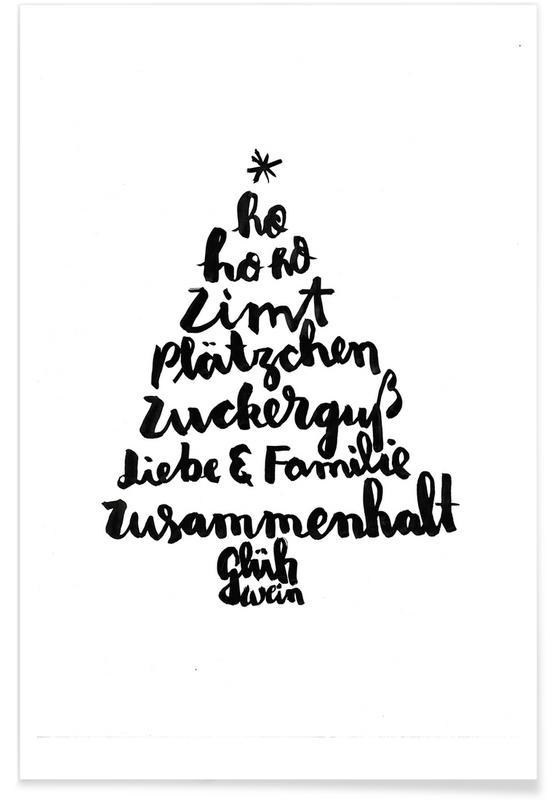Weihnachten, Tannenbaum -Poster